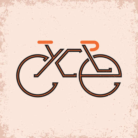 Lettering composition on the theme of Cycling Illustration