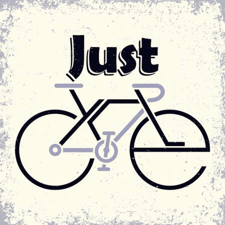 Lettering composition on the theme of Cycling Иллюстрация