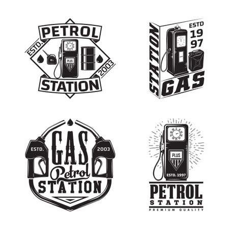 Set of Vintage Petrol station emblems design