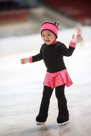 Funny girl learns to skate