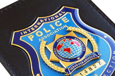 badge  of the International Police Association  Stock Photo - 9534408
