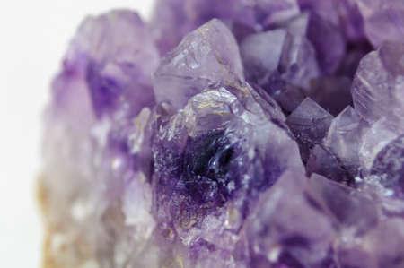 semiprecious: natural semi-precious gemstone closeup on white background Stock Photo