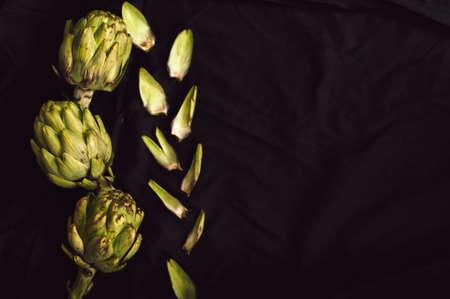 fresh green artichokes Stock Photo