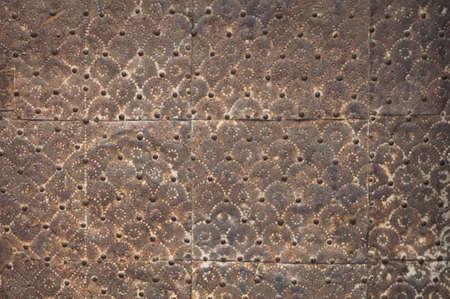 medieval door detail Stock Photo