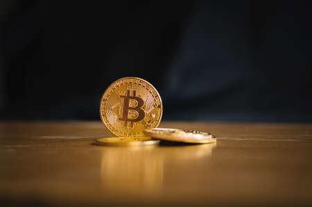 Coin of bitcoin Stock Photo