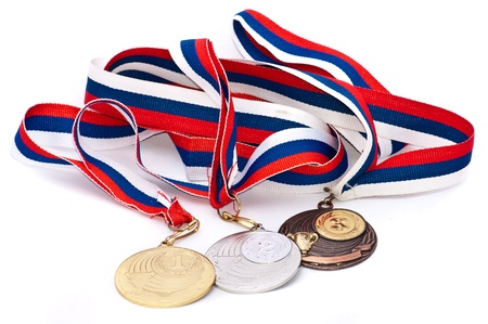 Sport-Medaille der Russischen Föderation. Isolated on white background Standard-Bild - 9550394
