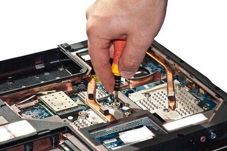 reparaturen: Laptop Reparatur. Der Spezialist f�hrt Reparaturen Notebook-Motherboard Pl�ne