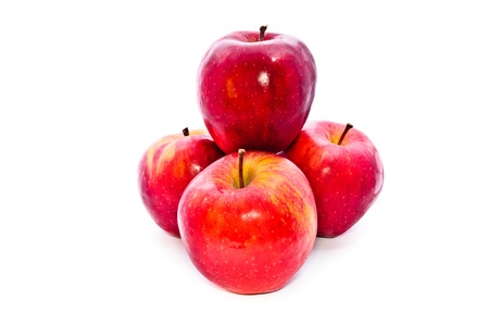 Red apple. Fruit on a white background. photo