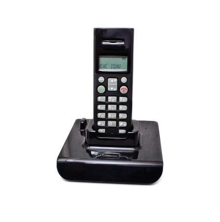 Black wireless phones. Isolated on white background