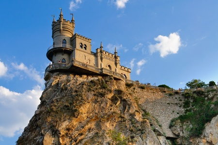 turrets: The castle on the rock. Against the sky Editorial