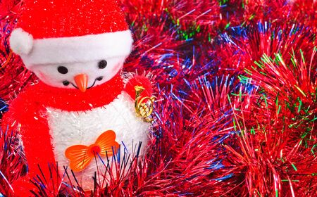 Christmas decorations. Christmas decorations and tinsel in different colors.