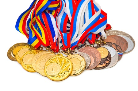 Sports Medal of the Russian Federation. Isolated on white background photo