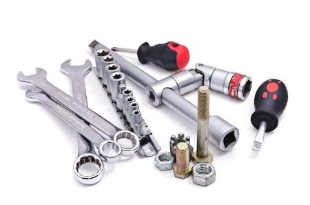 Schraubenschlüssel in verschiedenen Größen. Isoliert auf weißem Hintergrund Standard-Bild - 10845705