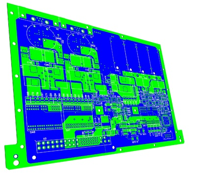 The printed circuit board. Without electronic components