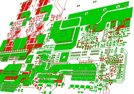 electronic components: The printed circuit board. Without electronic components