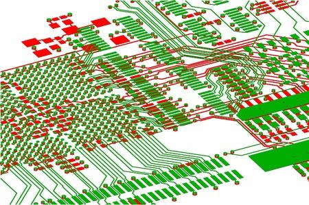printed circuit board: La carte de circuit imprim�. Sans composants �lectroniques