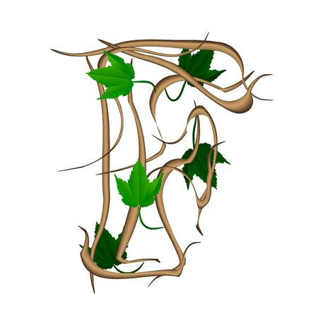 bonny: One letter of the alphabet vector tree branches