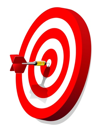 vector dartboard with dart Vector