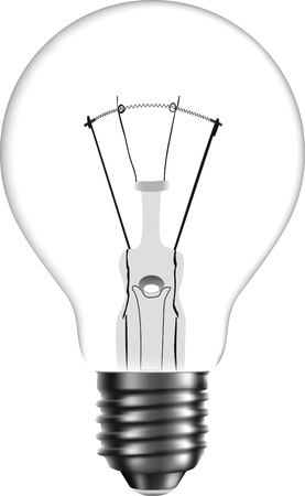 Vector bulb. Isolated on white background Illustration