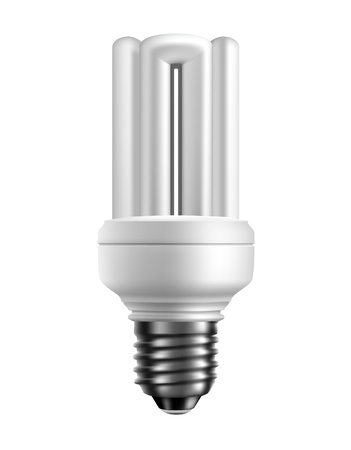 Vector energy saving lamp. Isolated on white background Vector
