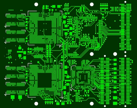 The printed circuit board. Without electronic components Stock Vector - 11217131