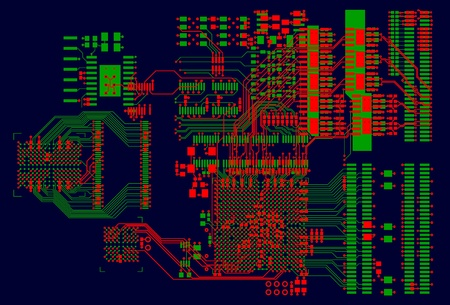 pcb: The printed circuit board. Without electronic components