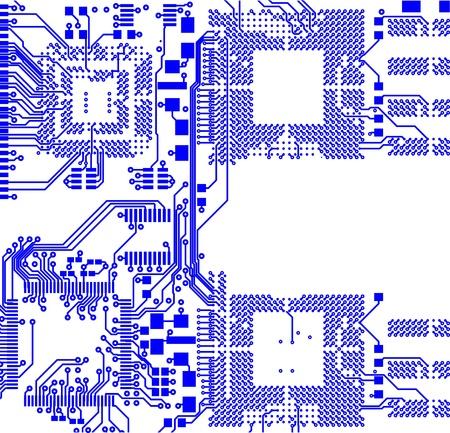 componentes electronicos: La placa de circuito impreso. Sin componentes electr�nicos Vectores