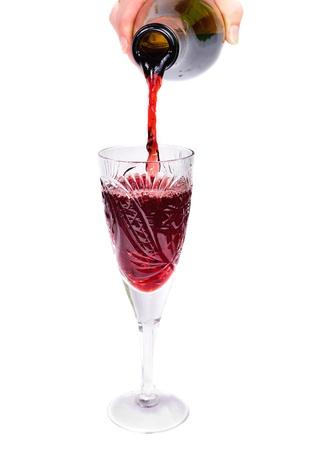 botella de vino. Aislado sobre fondo blanco Foto de archivo - 11397519