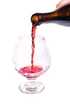 bottle of wine. Isolated on white background Stock Photo - 11397576