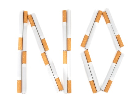 The text of cigarettes. Isolated on white background