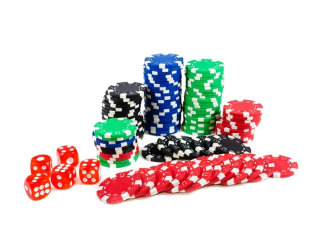 Casino chips. Photo of attributes gambling Stock Photo - 11888982