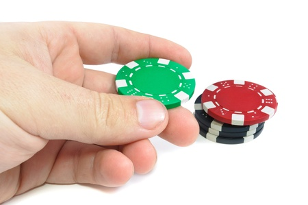 Casino chips. Photo of attributes gambling photo