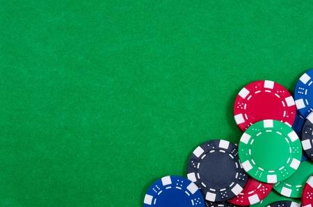Casino chips. Photo of attributes gambling