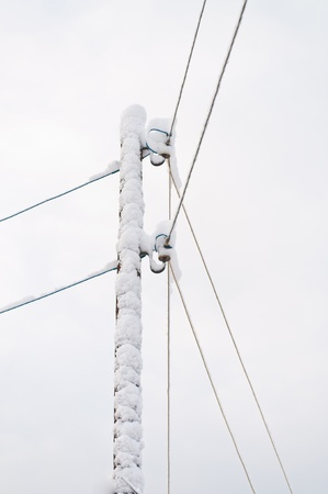 reliance: Reliance electric cable in the snow