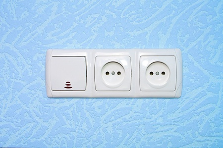 Electrical outlet in the wall photo