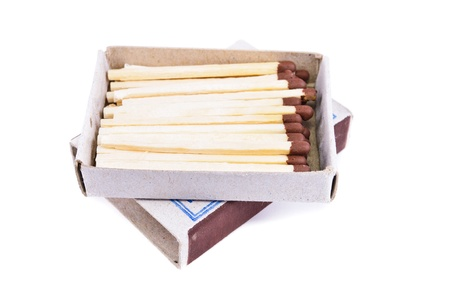 Box of matches. Photos isolated on white background Stock Photo - 12682761