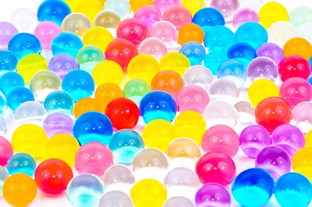 The soil of the colored balls. Photos isolated on white background photo