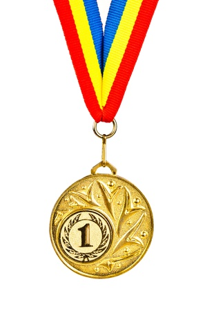 Sports Medal. Photos isolated on white background Stock Photo - 12682890