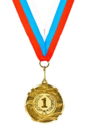 Sports Medal. Photos isolated on white background