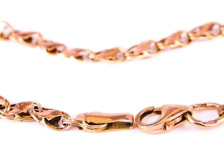 Gold chain. Close-up Photos photo