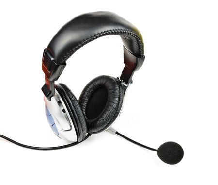 Headset with microphone. The photo on white background photo