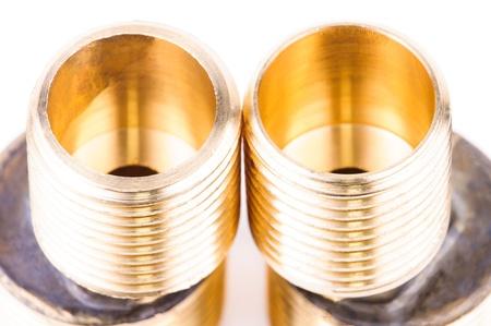 tuberias de agua: Accesorios para tuber�as de agua. Foto de archivo