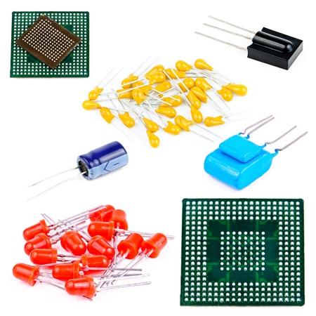 Komponenten für elektronische Geräte. Foto isoliert auf weißem Hintergrund Standard-Bild - 13701072