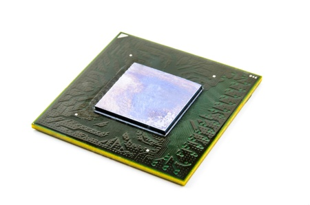 Processor with ball BGA pins  Photo Close-up Stock Photo - 15138670