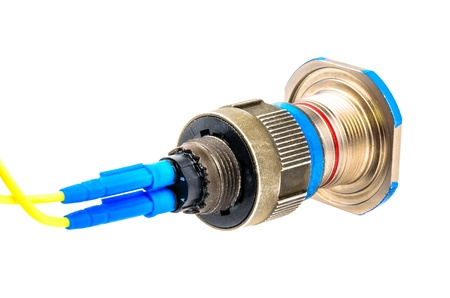 tcp: Connector for fiber optic cable  Photo Close-up