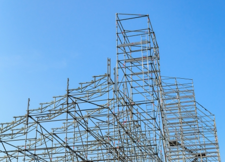 Scaffolding  The photo on the background of blue sky photo