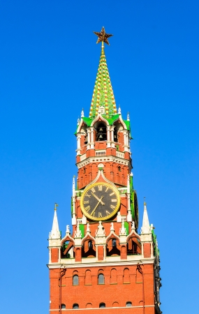 Spasskaya Tower of the Kremlin in Red Square photo