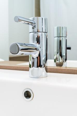 The water tap  ceramic washbasin