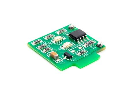 Miniature electronic circuit. The photo on the white background Stock Photo - 16878077