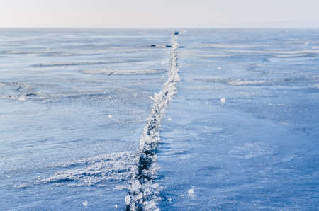 Fragments of ice frozen sea. Photo Close-up Stock Photo - 17127870